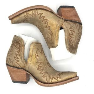 Ariat Shoes - Ariat Dixon Distressed Gold Western Booties